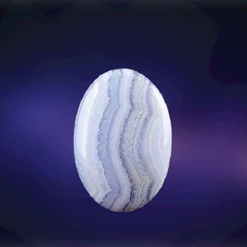 Natural Blue Lace Agate Code  53