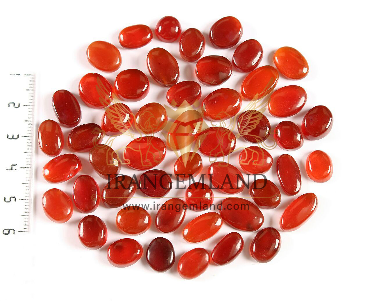 50 pieces of red Yemeni agate